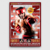 Fight Night Boxing Flyer Template psd design download V3