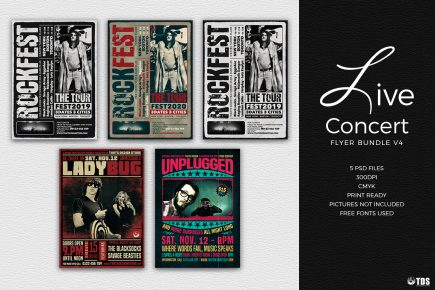 Live Band PSD Flyer Templates Bundle V4