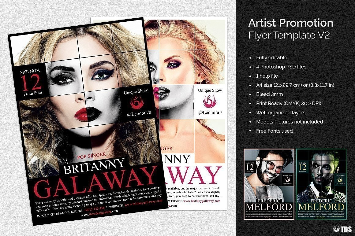 Artist Flyer Template Psd V2 to download for photoshop
