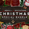 7 Xmas Menus + 7 Invitations Bundle
