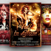 Autumn fall party flyer templates psd
