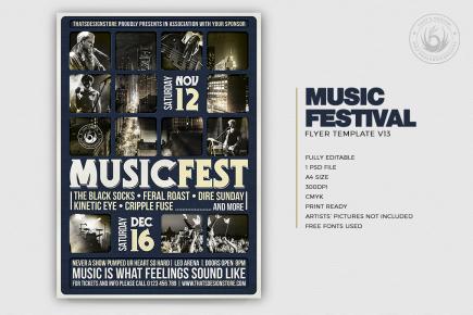 Music Festival Flyer Template V13
