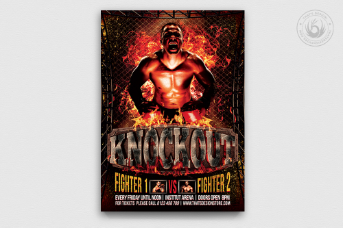 Fight Night Flyer Template Psd Download V2