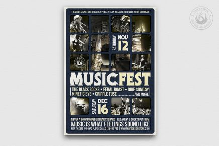 Music Festival Flyer Template V13