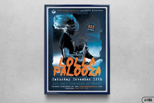 Music Festival Flyer Template PSD Design for Photoshop V16