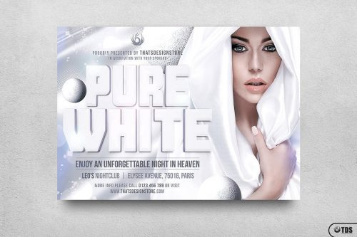White Party Flyer Template Psd V.3