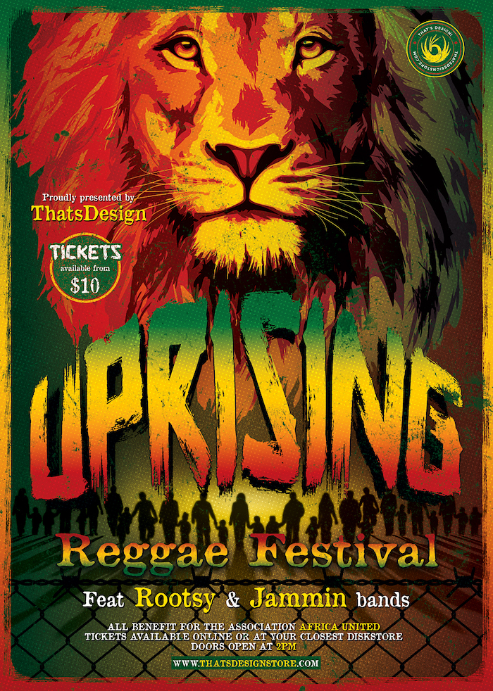 Reggae Uprising Flyer Template, Rasta PSD Flyer