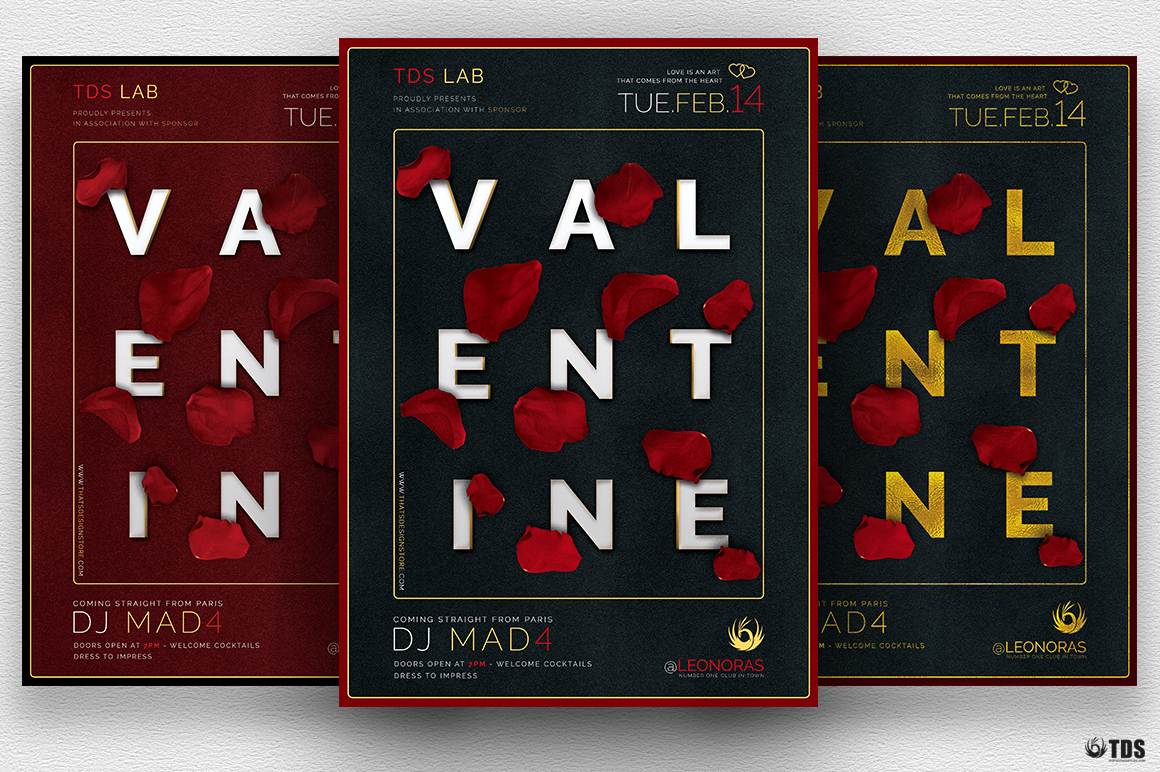 Valentine's day Flyer Template V10
