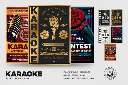 Karaoke flyer templates psd to download