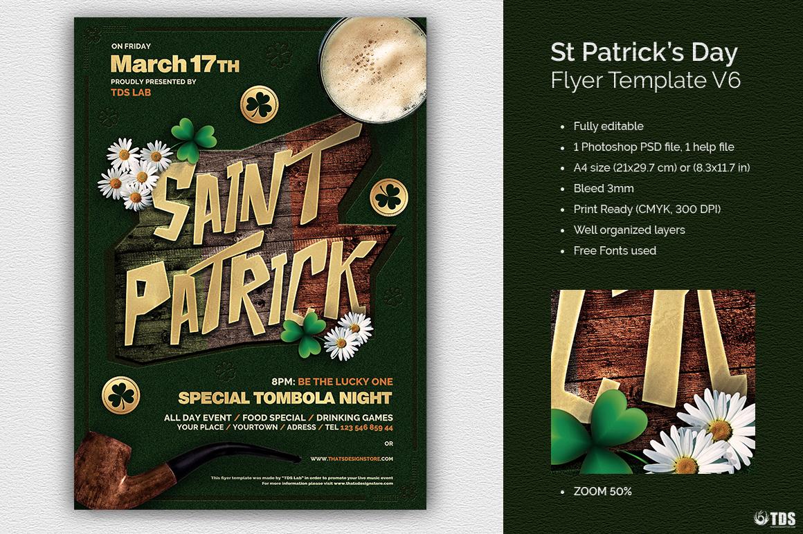 Saint Patrick's Day PSD Flyer Template V6