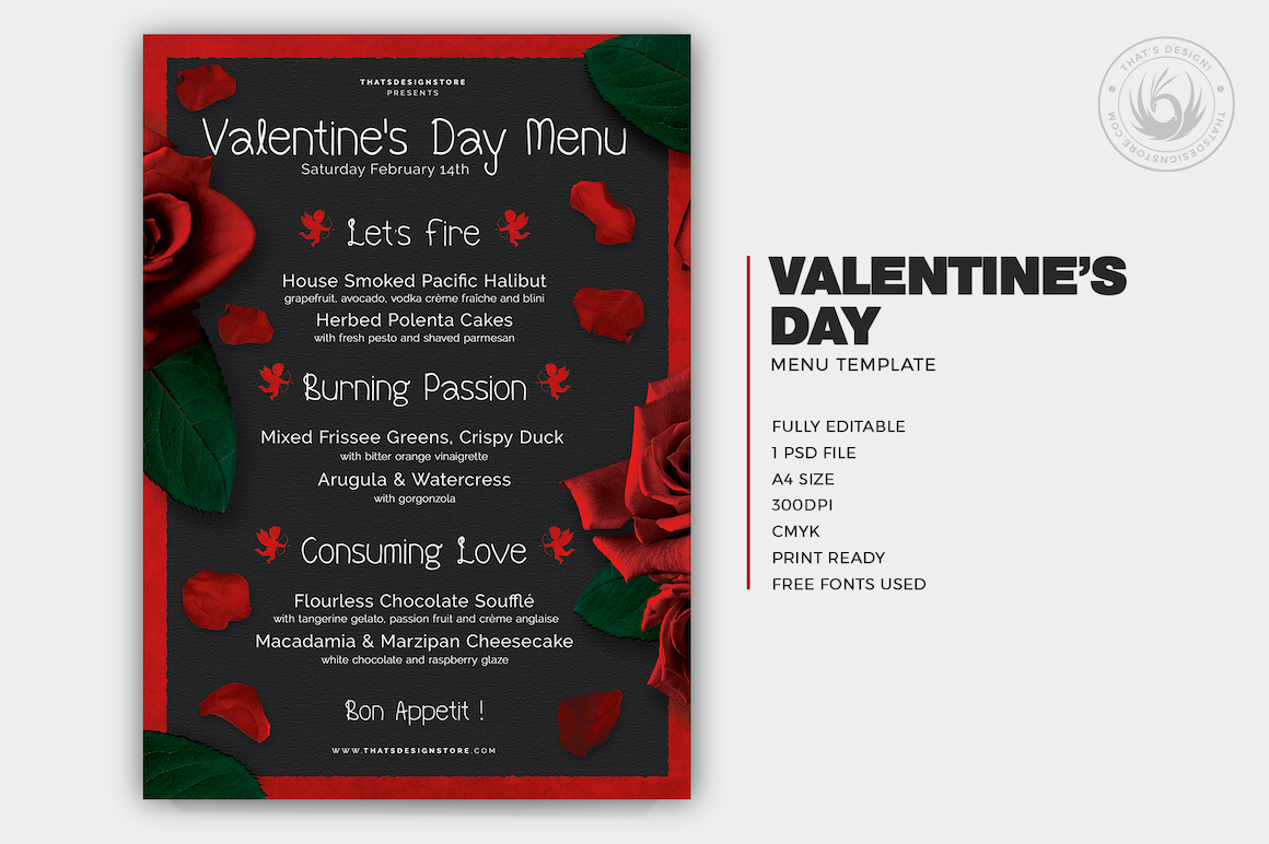 valentine u0026 39 s day menu template v2