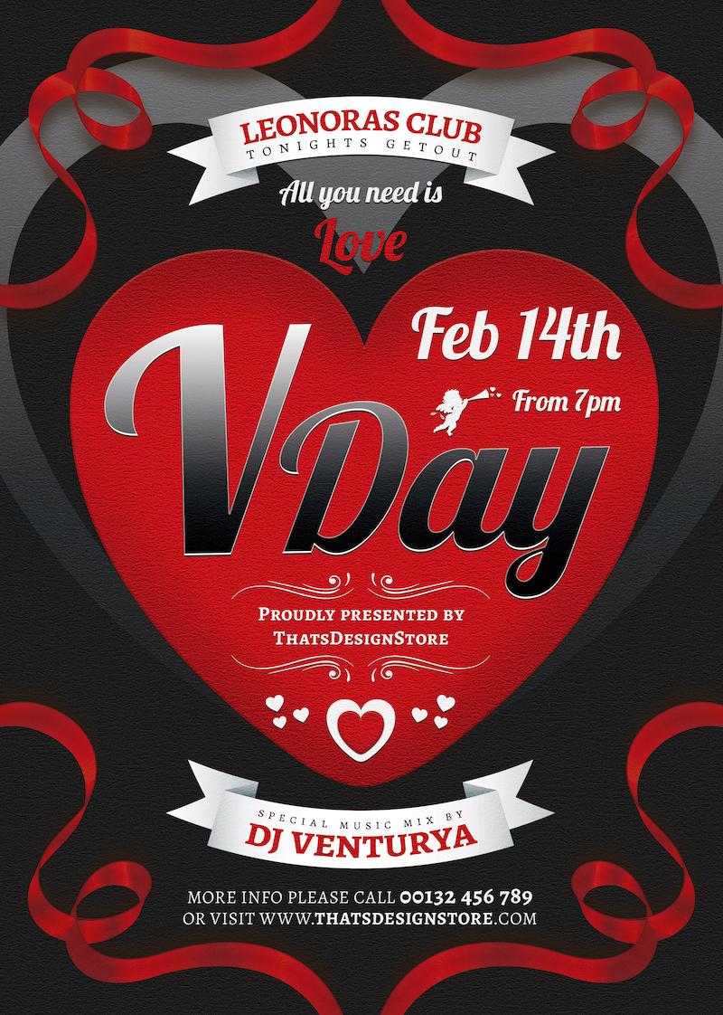 Valentine's Day Flyer Template V8