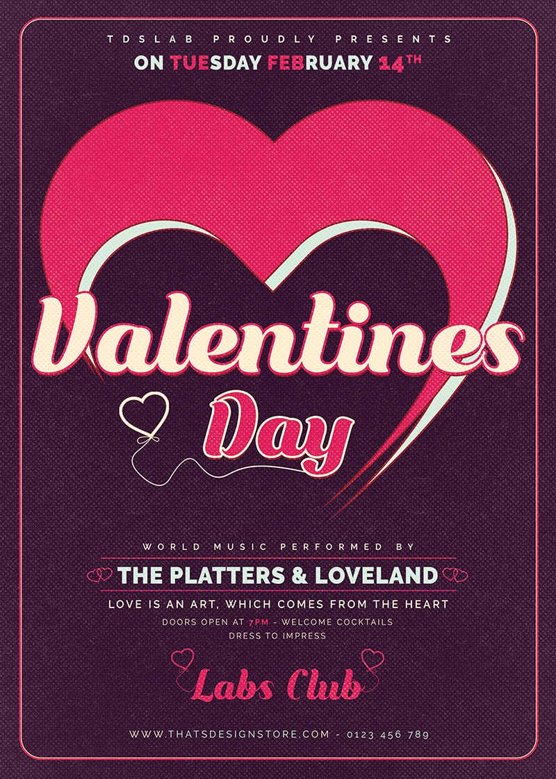 Valentine's Day Flyer Template V9