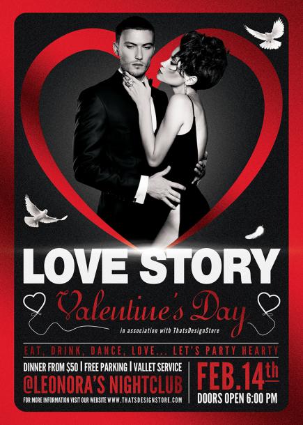 Valentine's Day Flyer Template V2