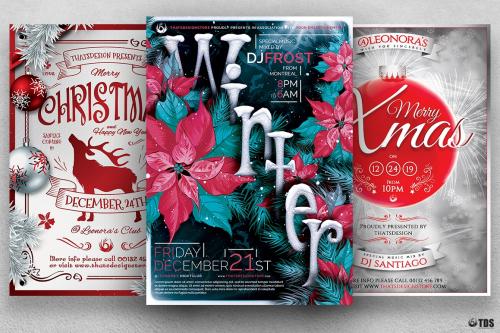 Winter Events Flyer Templates affordable design V.4