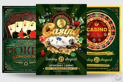 Vegas Poker Casino Flyers