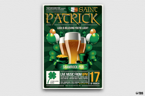 Saint Patrick's Day PSD Flyer Template V2