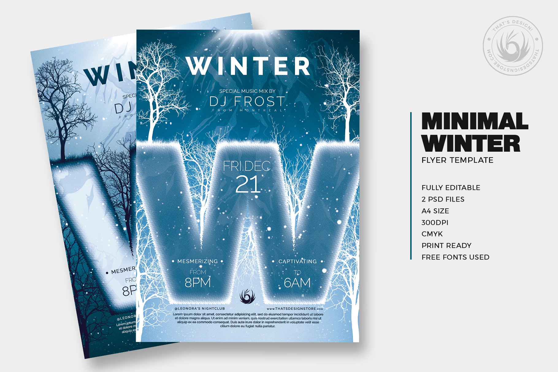 Minimal Winter Flyer Template