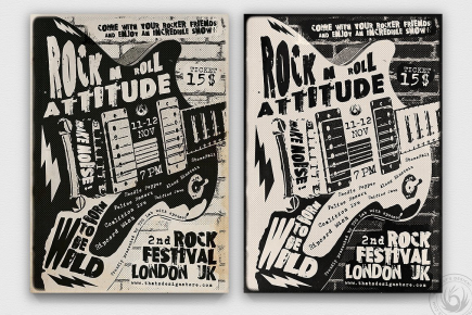 Rock Festival Flyer Template download V3, band posters, Indie pop festival psd templates