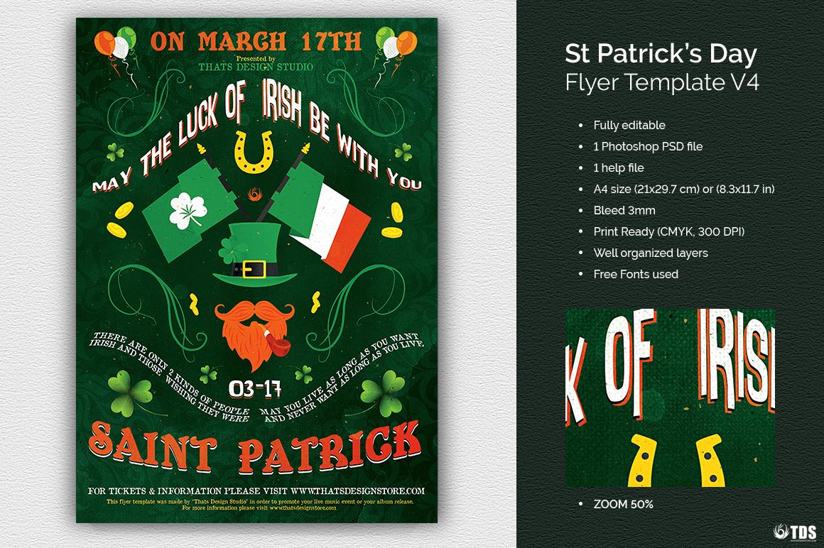 Saint Patrick's Day PSD Flyer Template V4
