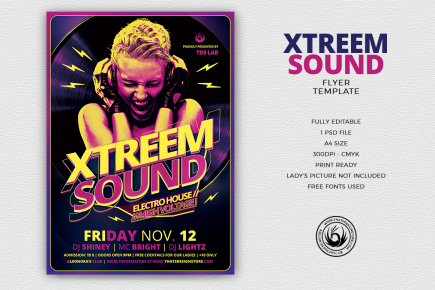 Xtreem Sound Flyer Template