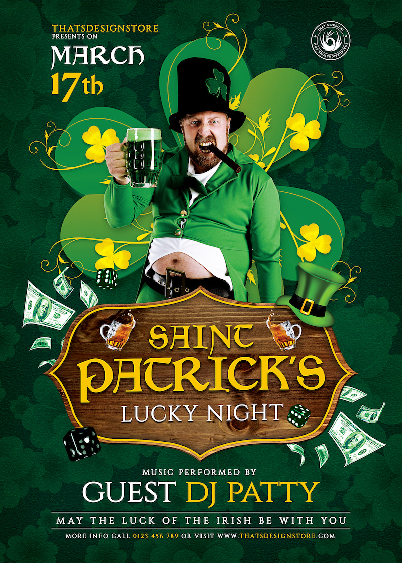 Saint Patrick's Day PSD Flyer Template