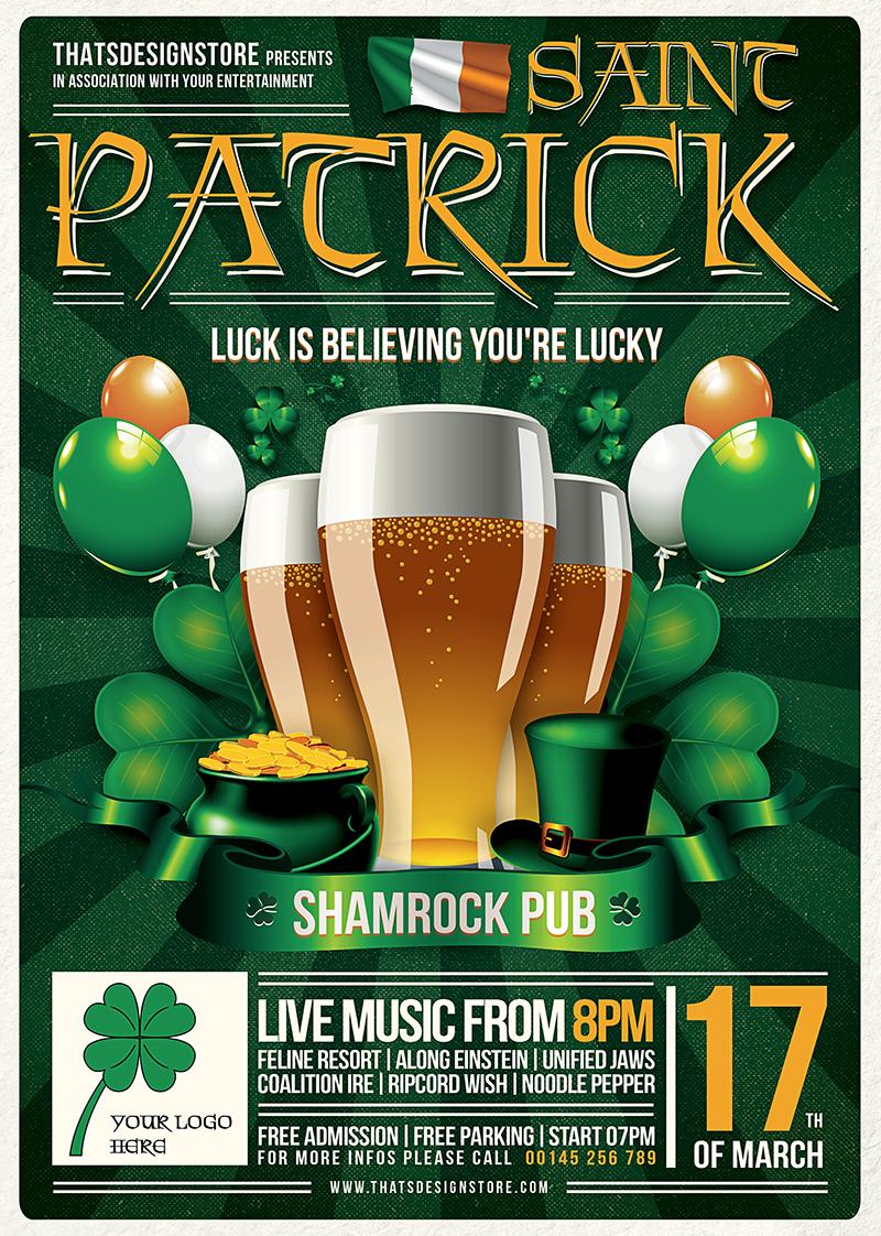 Saint Patrick's Day PSD Flyer Template V2