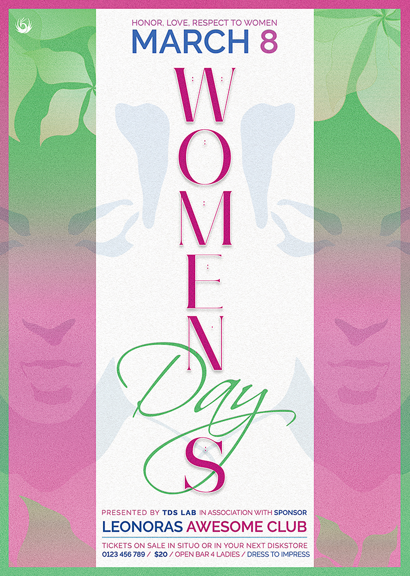 Women's Day Flyer Template,Psd download to customize with photoshop