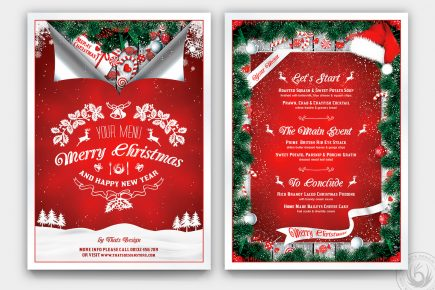 Christmas Menu Template V6