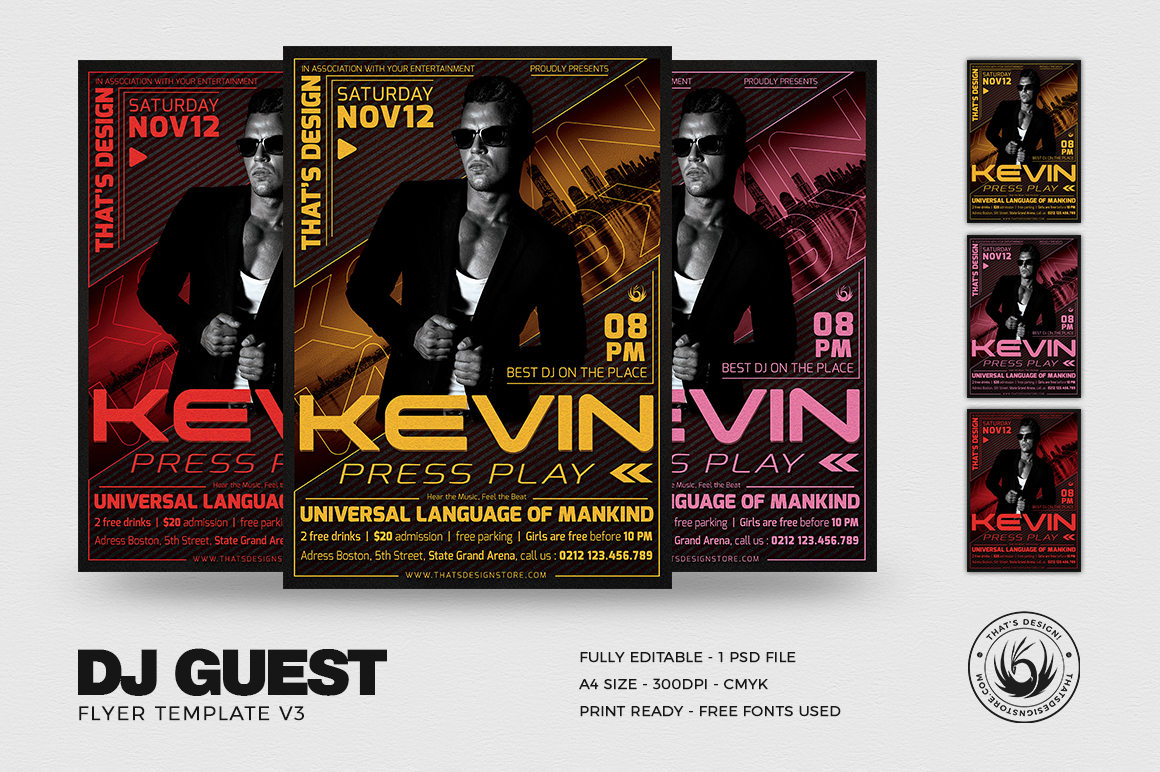 Download DJ Guest Flyer Template PSD V3