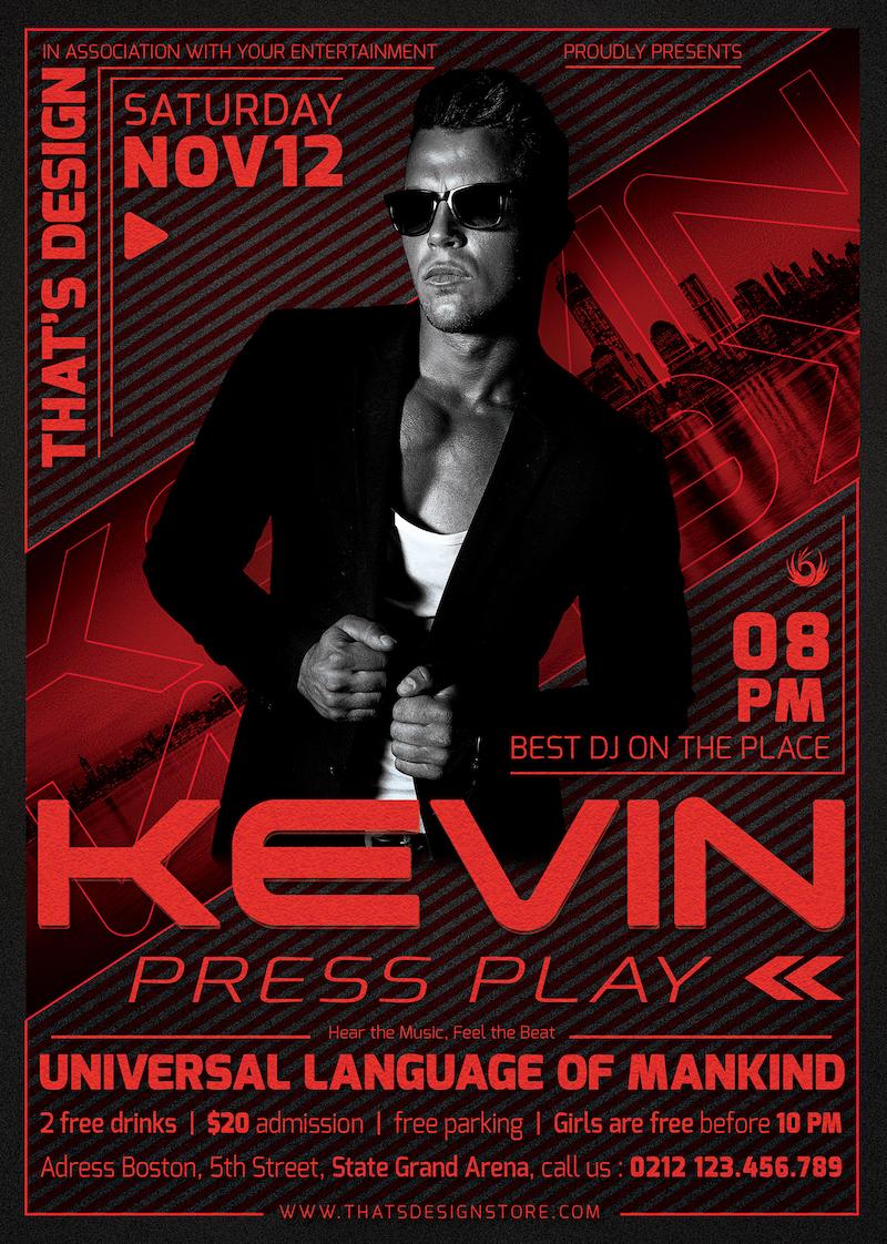 Download DJ Guest Flyer Template PSD download V3, Photoshop poster