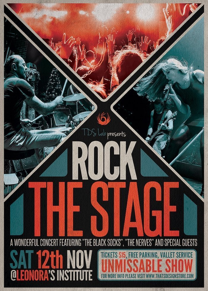 Rock the stage - Free PSD Flyer template - Freebies Layouts photoshop