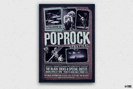 Pop Rock Festival Flyer Template V2