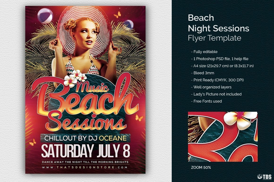 or cocktails bar event. Pool or garden party with Dj set mixing chillout, lounge music for a tropical sunset, summer camp holidays