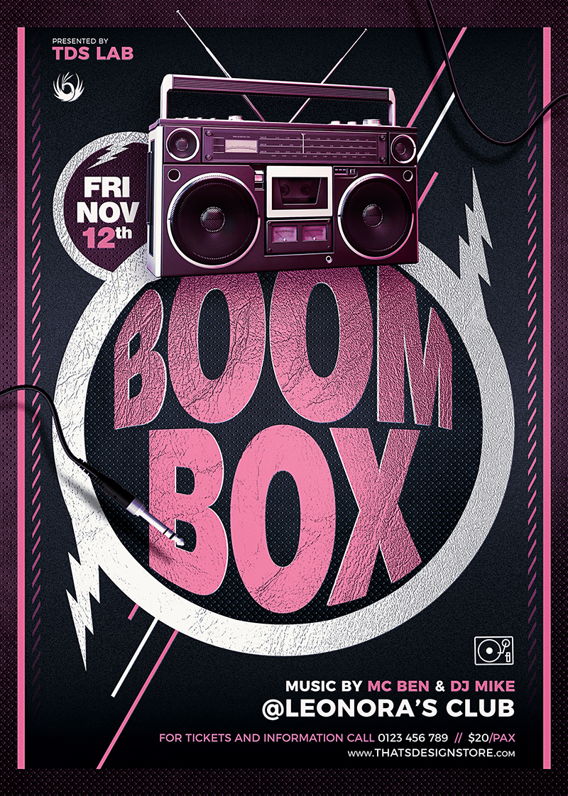 Boombox Flyer Template