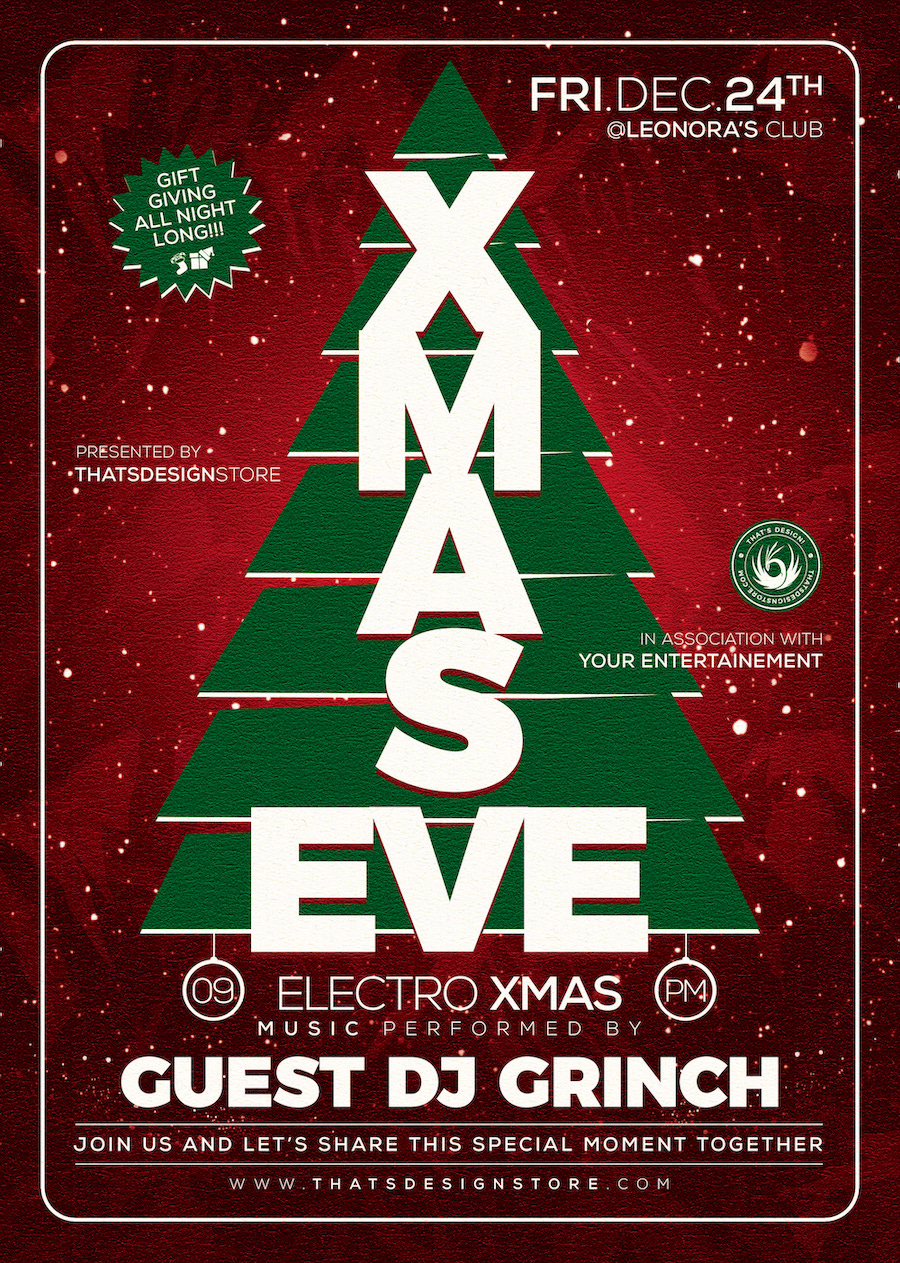 Christmas Eve Flyer Template V6