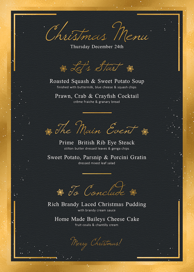 Christmas Menu Template PSD Download V3