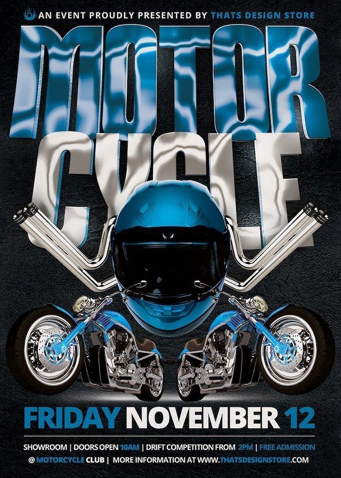 Bike night, Road trip Motorcycle Flyer Template