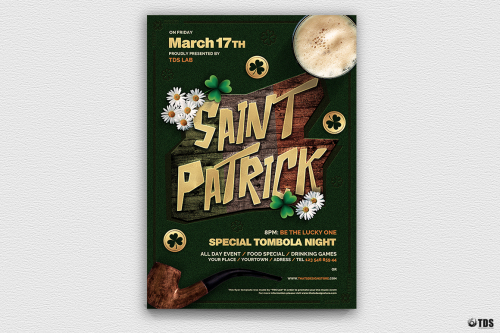 Saint Patrick's Day PSD Flyer Template V6