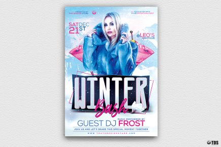 Winter Bash Flyer Template V2