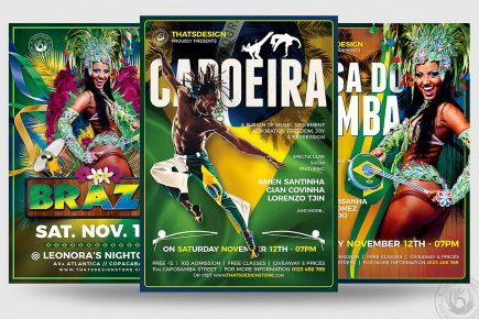 Brazilian Flyer Templates Psd download for photoshop
