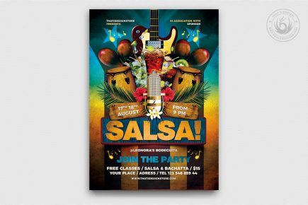 Cuban Live Salsa Flyer Template