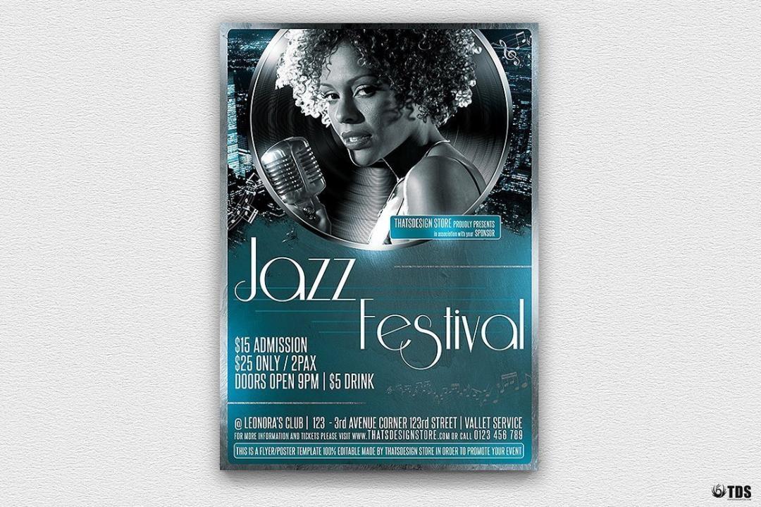 Jazzy Fest Flyer Template V2
