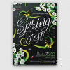 Spring fest Party Flyer Psd Templates
