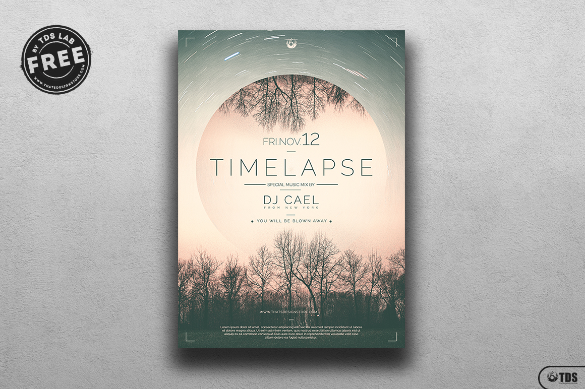 Time Lapse - Free PSD Flyer Templates, Download Club party freebies