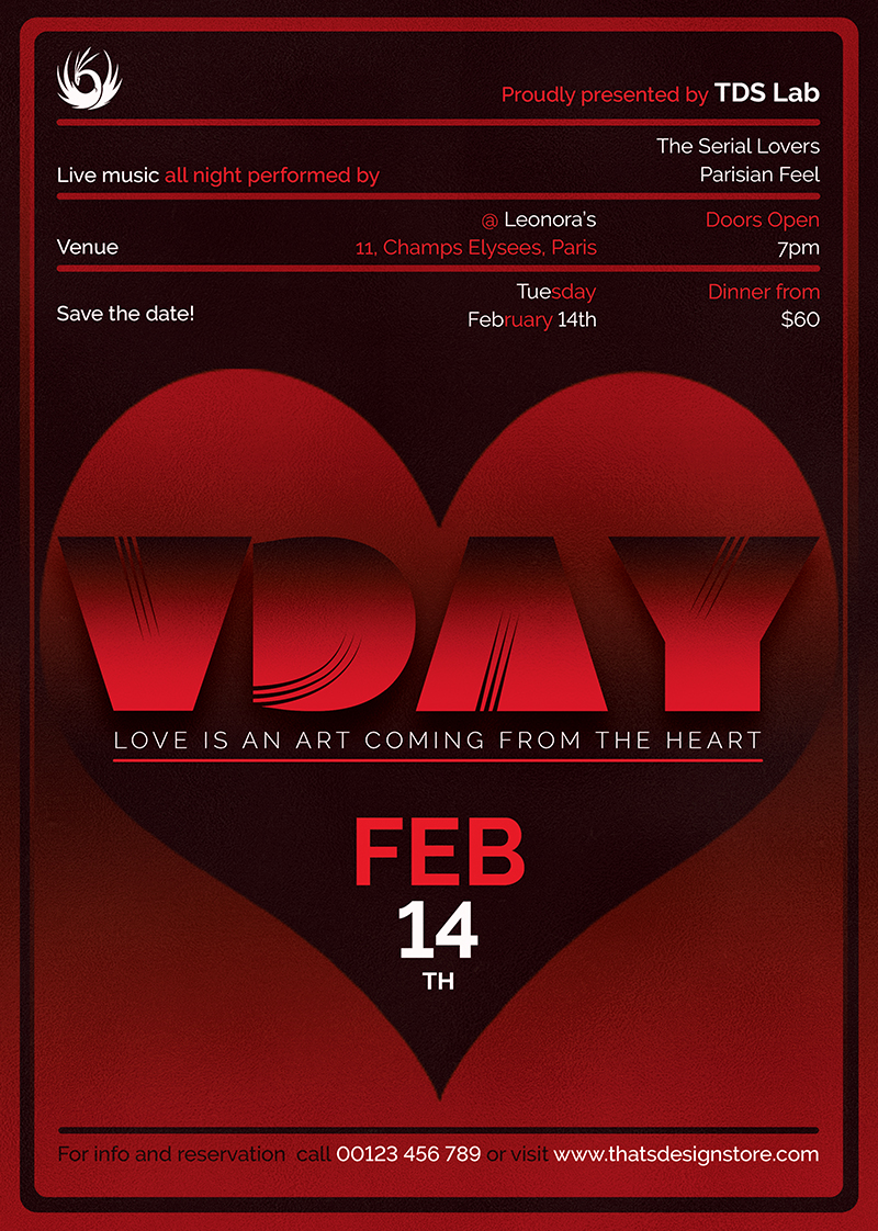 Valentine's Day Flyer Template V11