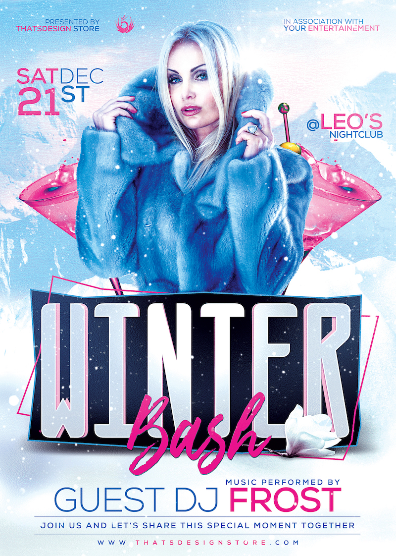 Winter Bash Flyer Template V2