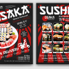Sushi Delivery Flyer Template PSD download