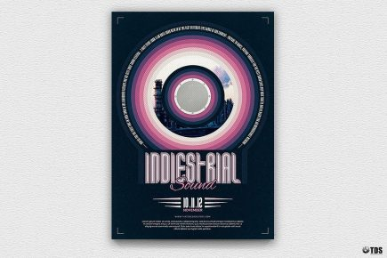Indie Fest Flyer Template Psd download V4