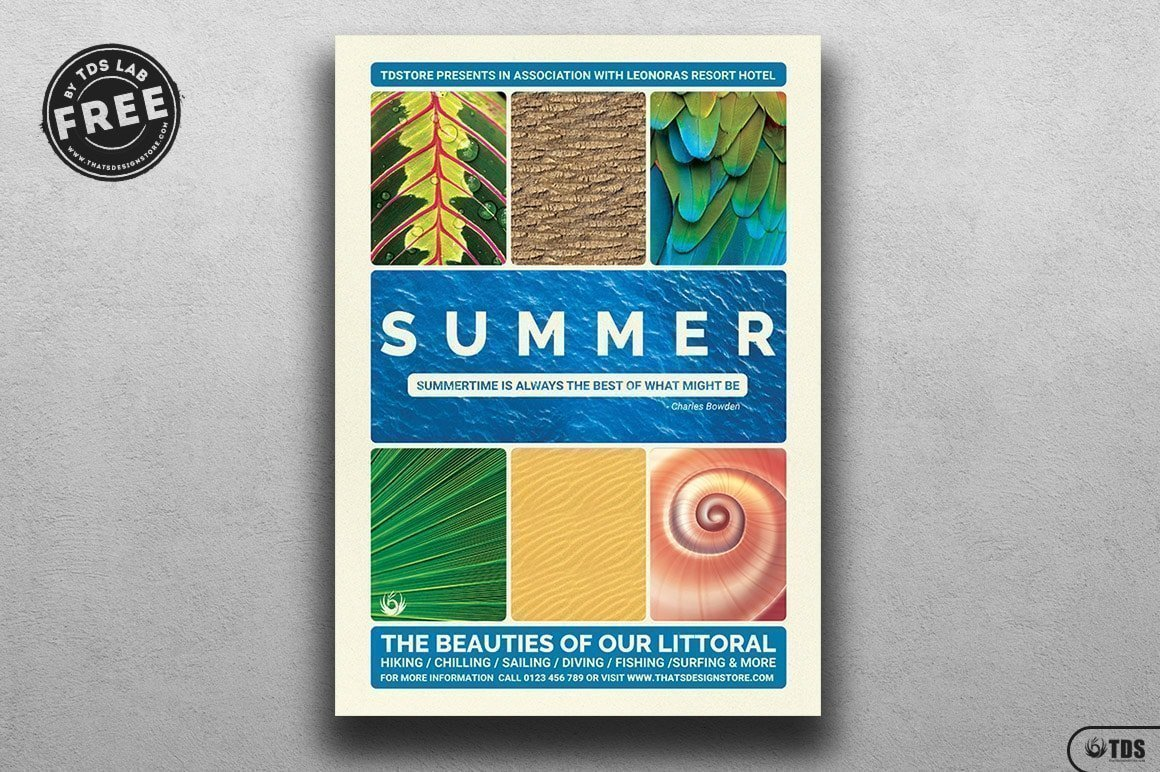 free summer vacation flyer template